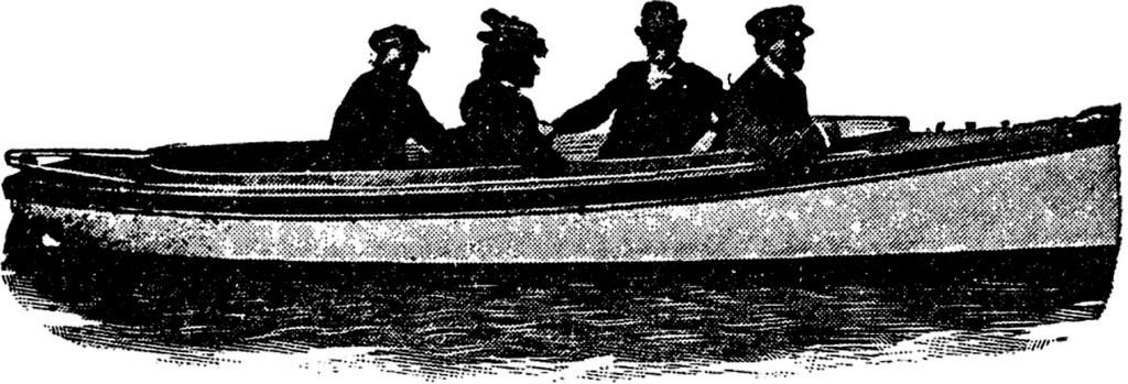 Vintage Row Boat Image