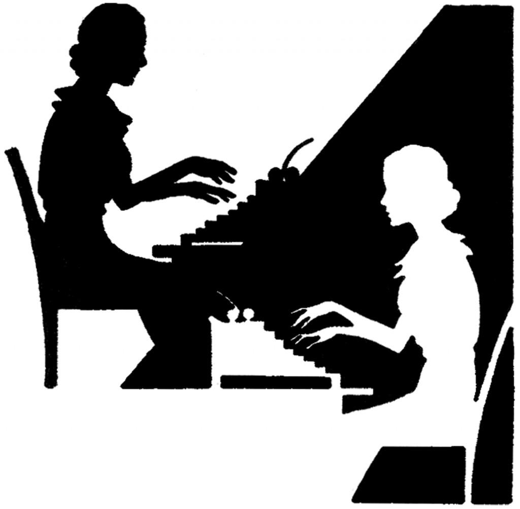 Vintage Typing Ladies Image