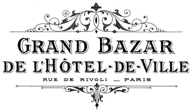 French Grand Bazar Transfer // The Graphics Fairy