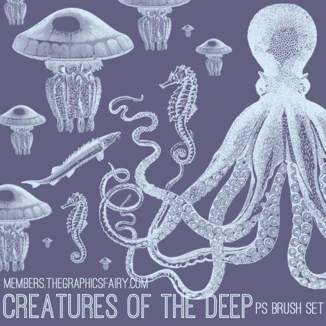 sea_creature_brushes_graphicsfairy