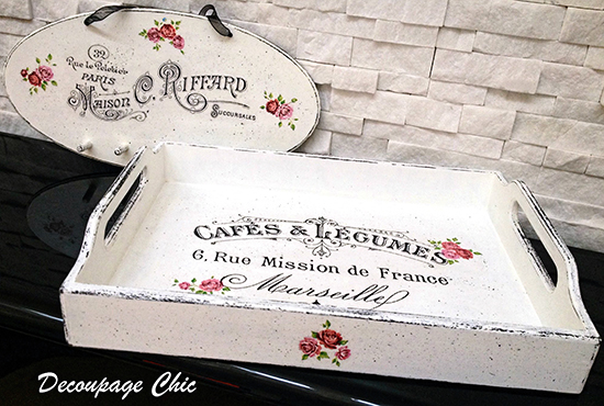 03 - Decoupage Chic - Serving Tray