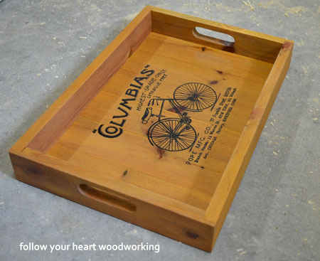 06 - FOllow Your Heart Woodworking - Bicycle Serving Tray
