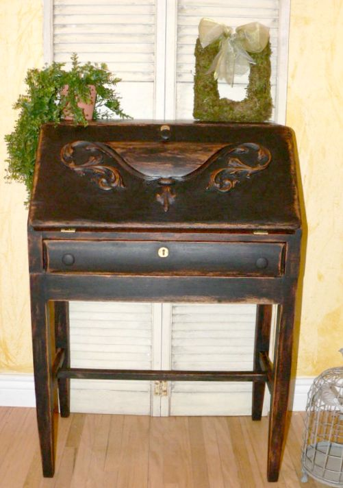 06 - Rose - Refinished Antique Desk