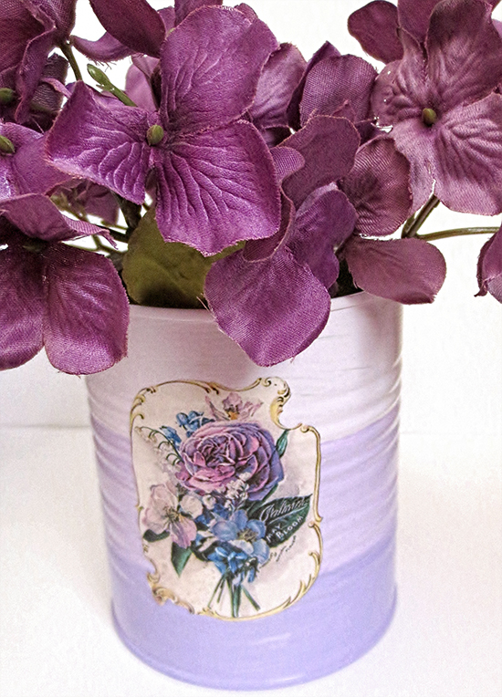 13 - Altered Books and Things - Upcycled Tin Can Vase
