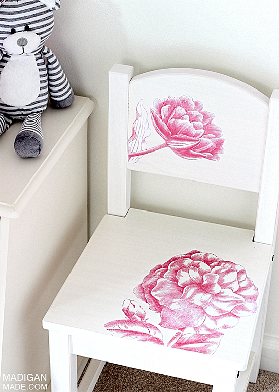 15 - Madigan Made - Floral Kids Chair