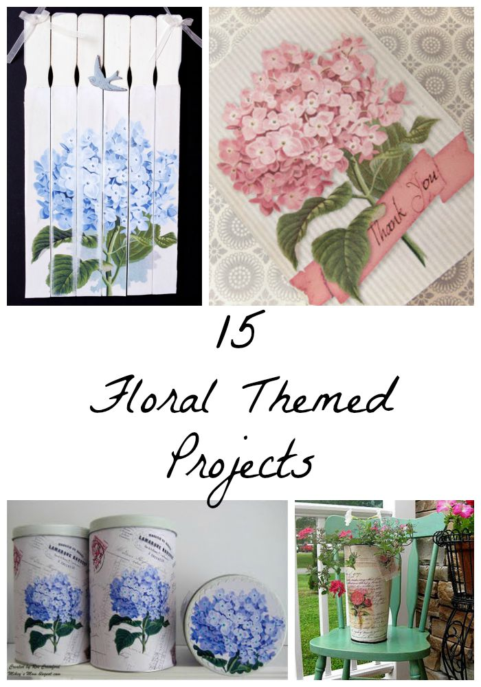 15 Floral Themed Projects
