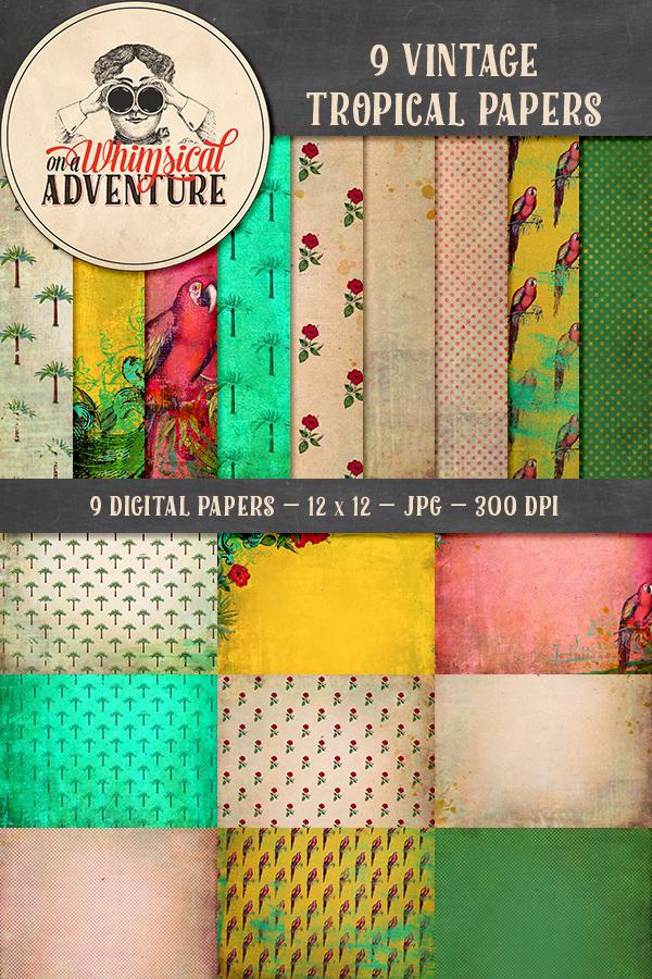 9010OAWAPAVI-Vintage-Tropical-Papers-Preview