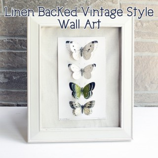 Linen Backed Vintage Style Wall Art DIY!
