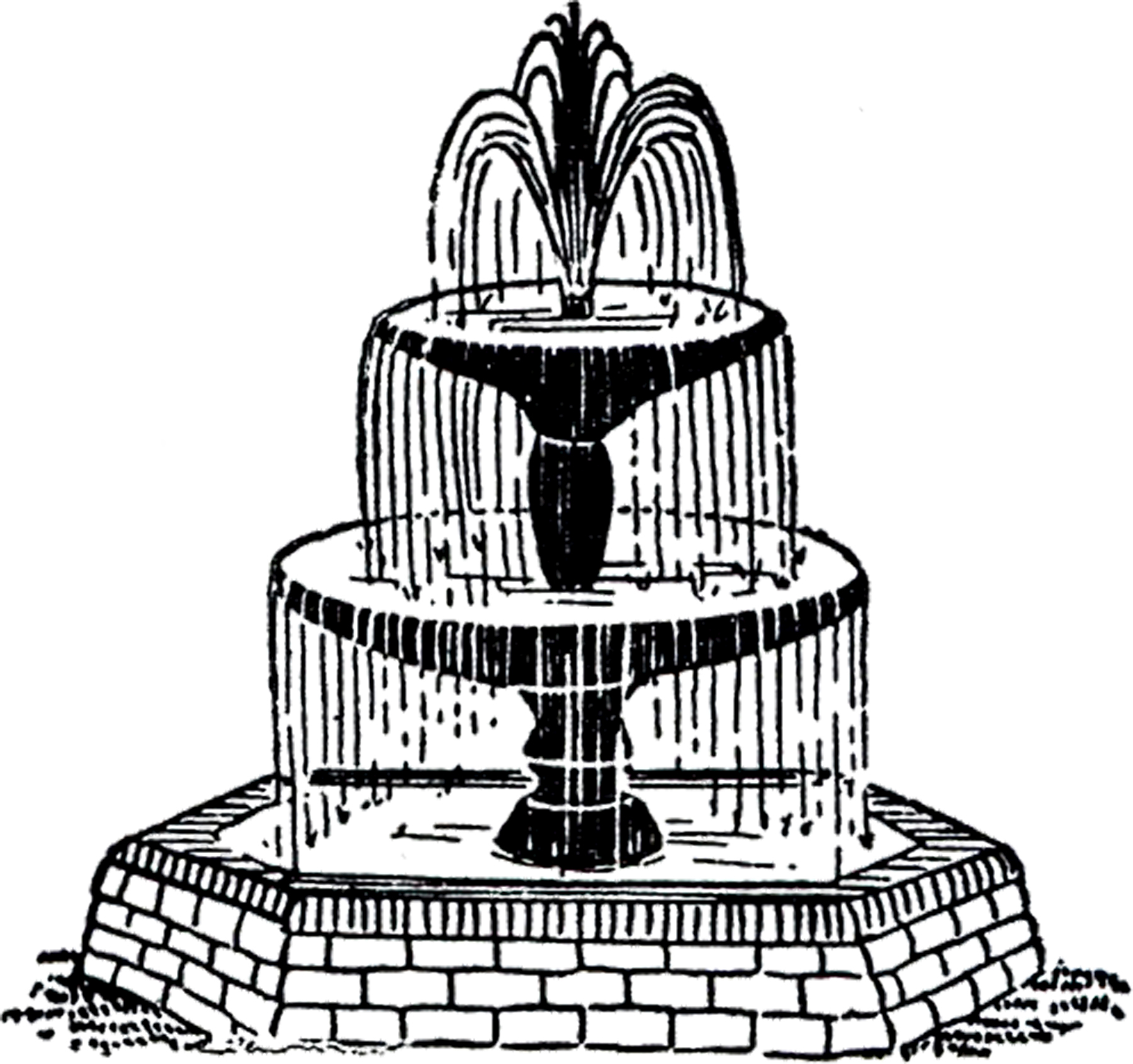Free Vintage Fountain Clip Art! - The Graphics Fairy