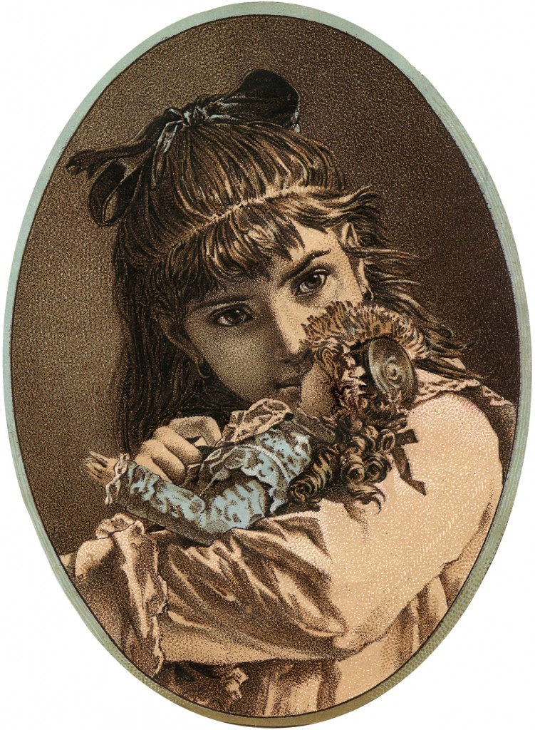 Girl with Doll Image