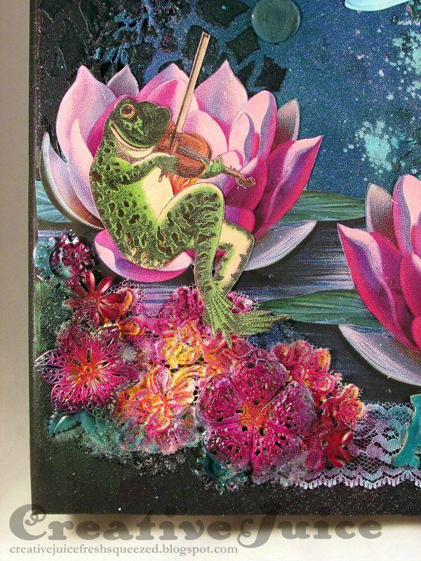 Lisa-Hoel_Mixed-Media-ATC-binder-DETAIL-frog