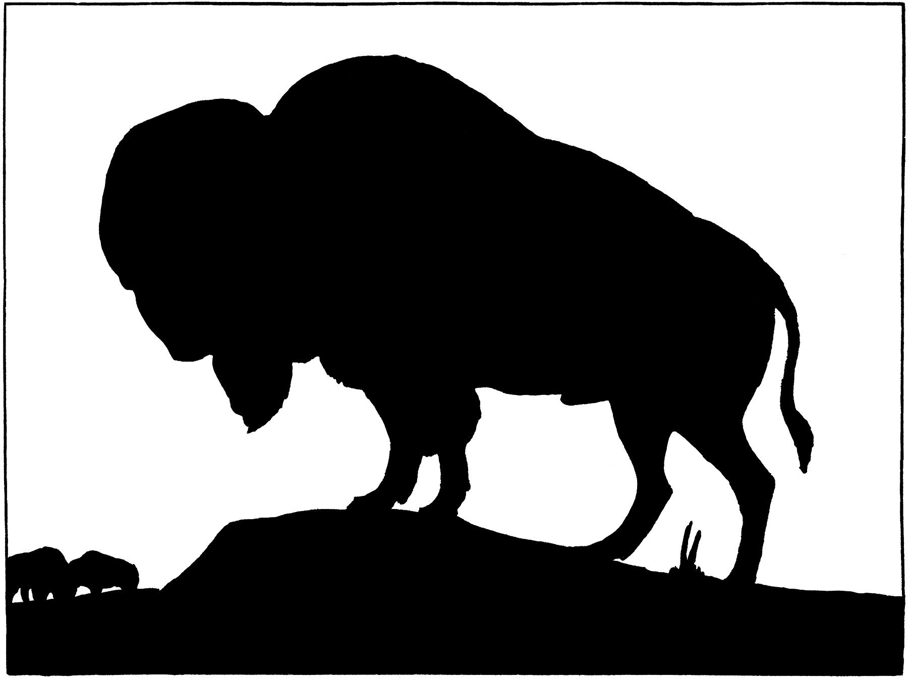 Vintage Buffalo Silhouette Image! - The Graphics Fairy
