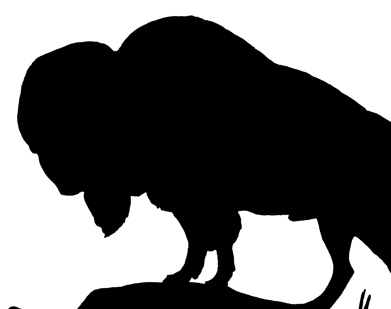 Vintage Buffalo Silhouette Image! - The Graphics Fairy