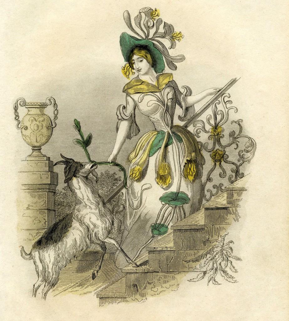 Vintage Flower Fairy Lady Image