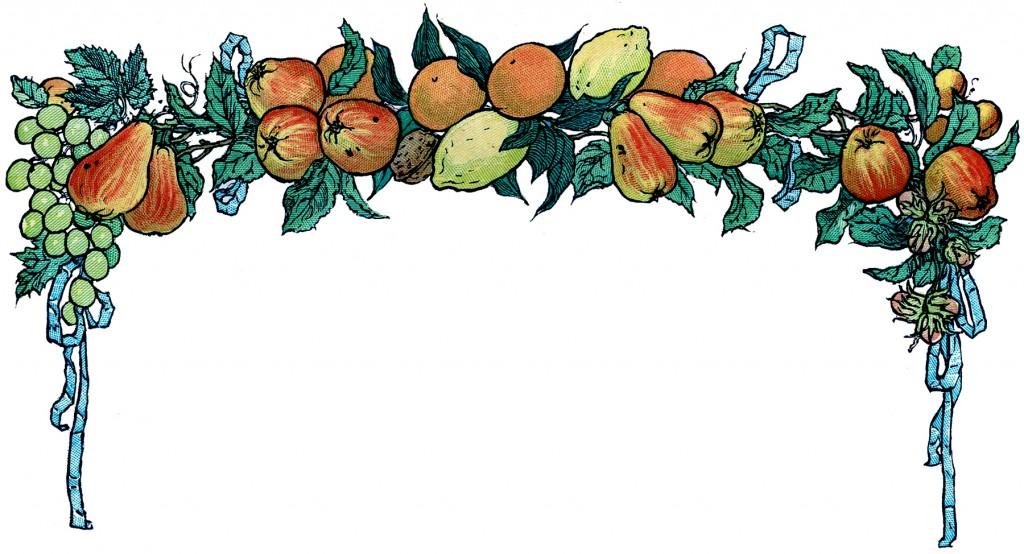Free Vintage Fruit Garland Image