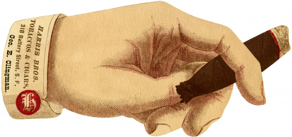 Vintage Hand with Cigar Ad