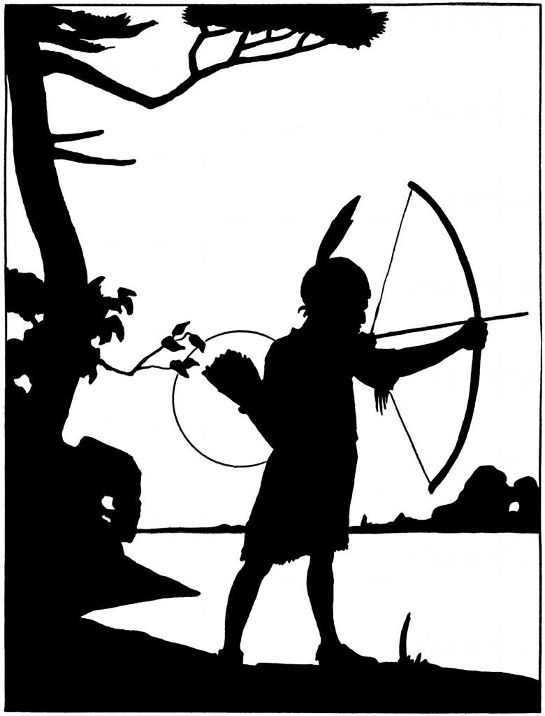 Vintage Hiawatha Silhouette Image