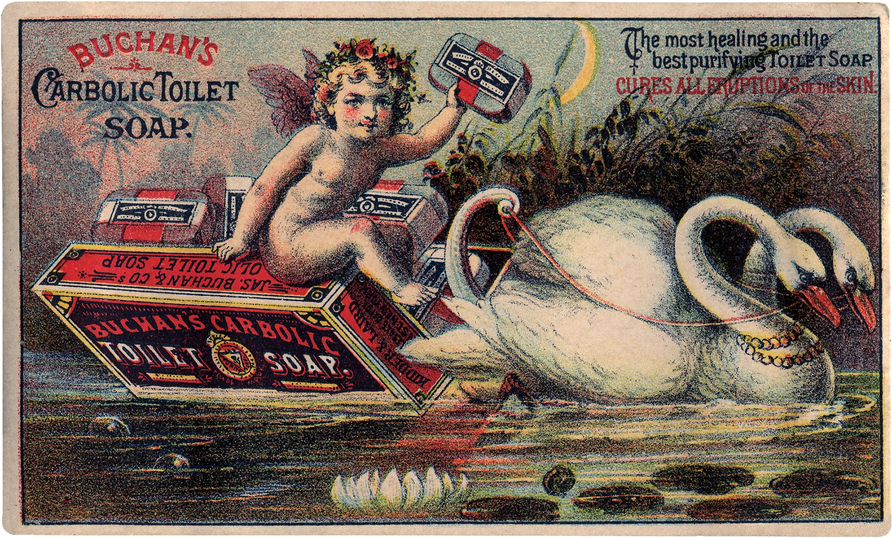 Vintage Swan Boat Image! - The Graphics Fairy