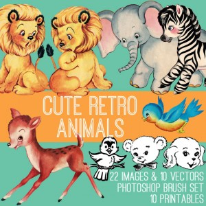 Retro Animals Kit