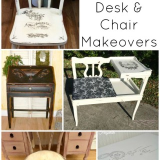 DIY Wooden Desk and Chair Makeovers