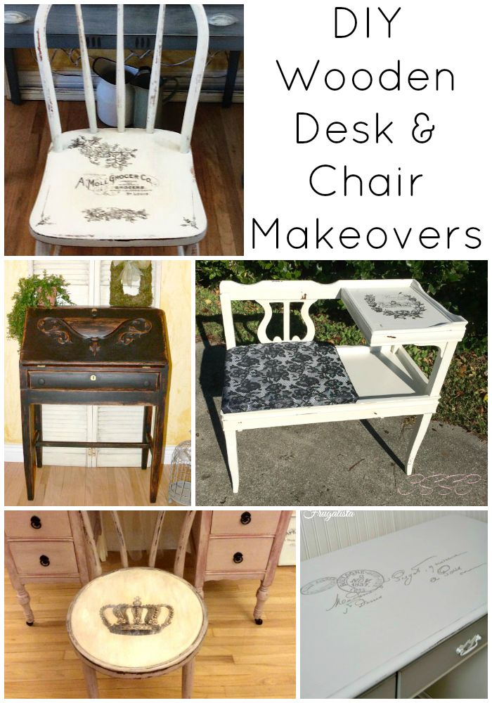 Diy Wooden Desk ~ Diy wooden desk and chair makeovers the graphics fairy