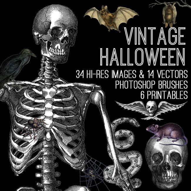 Awesome Vintage Halloween Kit TGF Premium