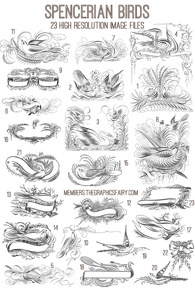 spencerian_image_list_graphicsfairy