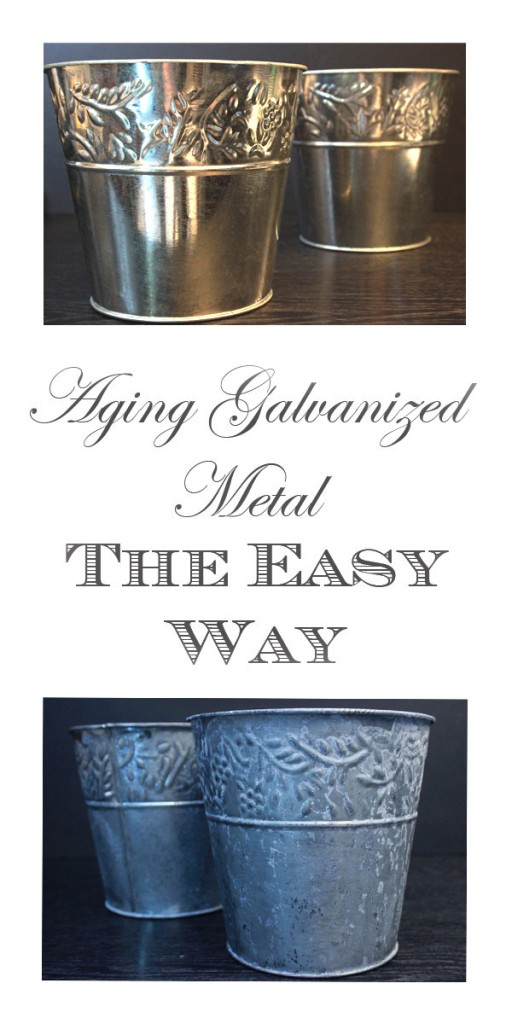technique how to age galvanized metal the graphics fairy. Black Bedroom Furniture Sets. Home Design Ideas