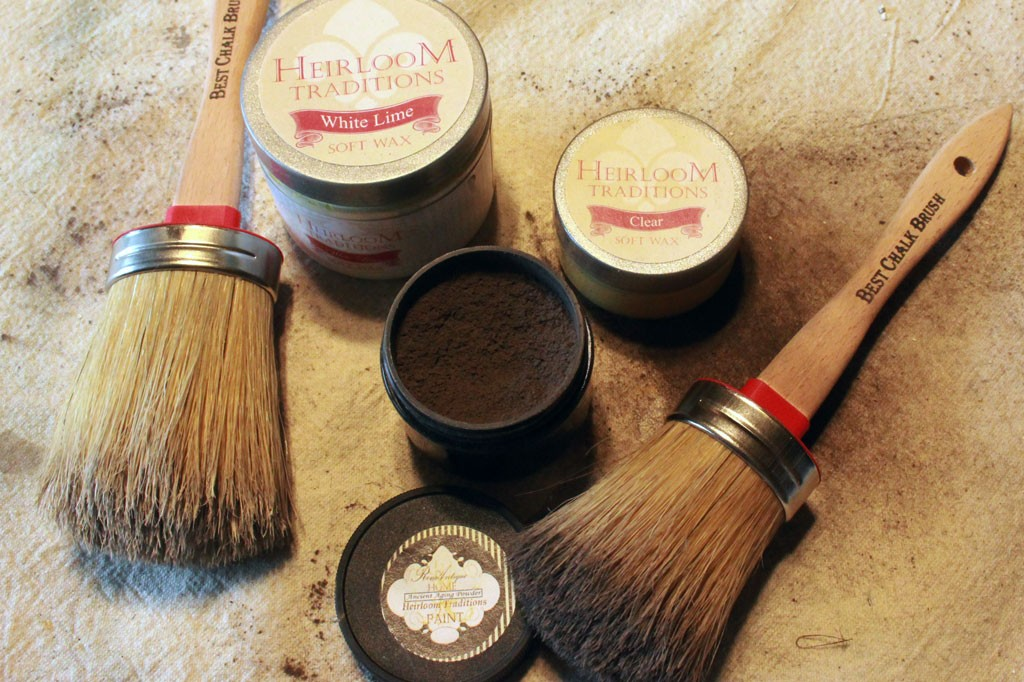 Heirloom Traditions White Lime Wax, Clear Wax & Ancient Aging Dust