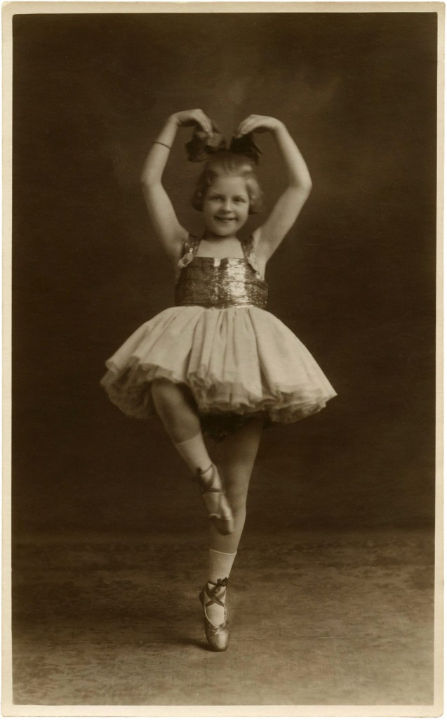 Vintage Ballerina Child Photo