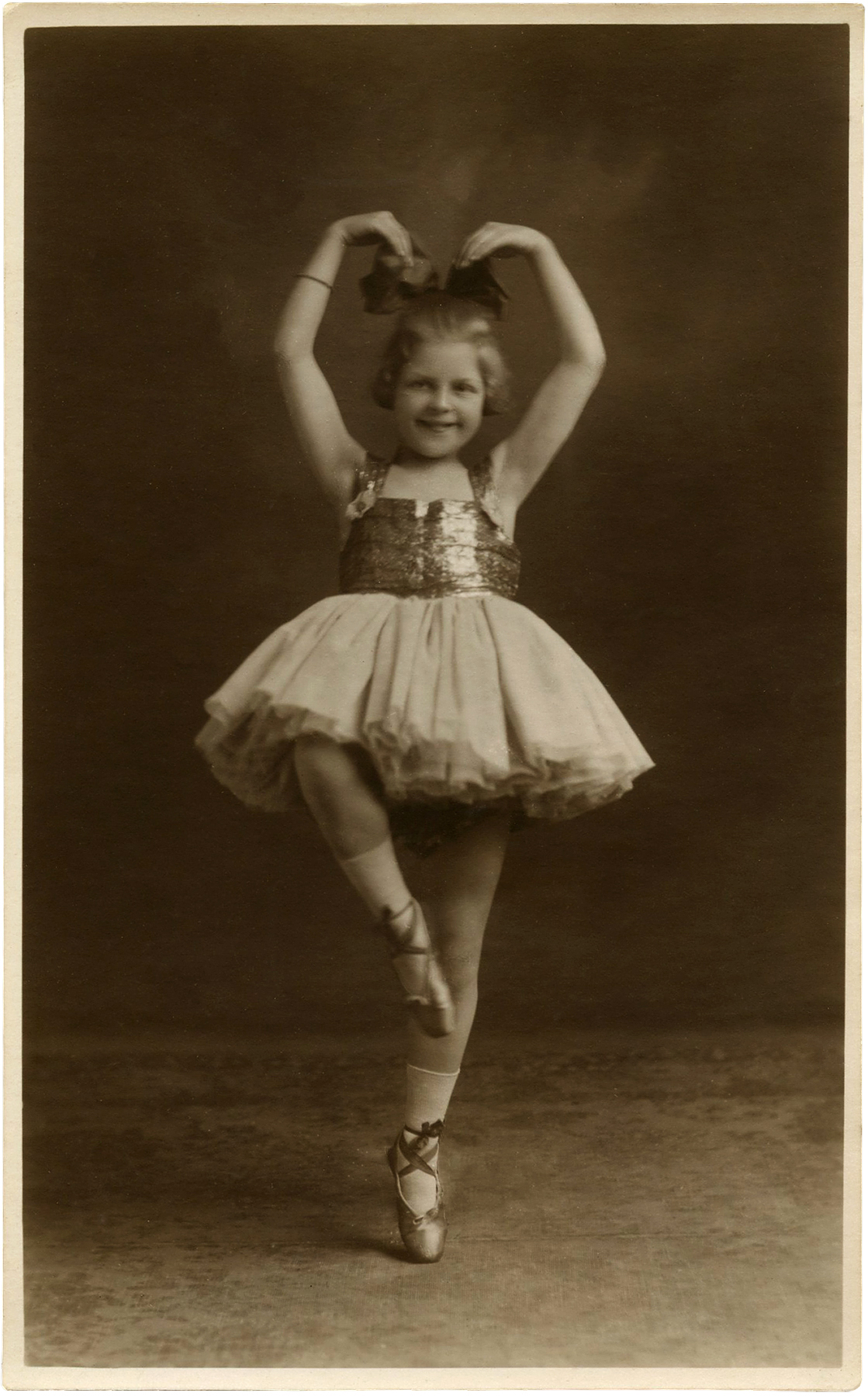 Vintage Ballerina Child Photo- Adorable!