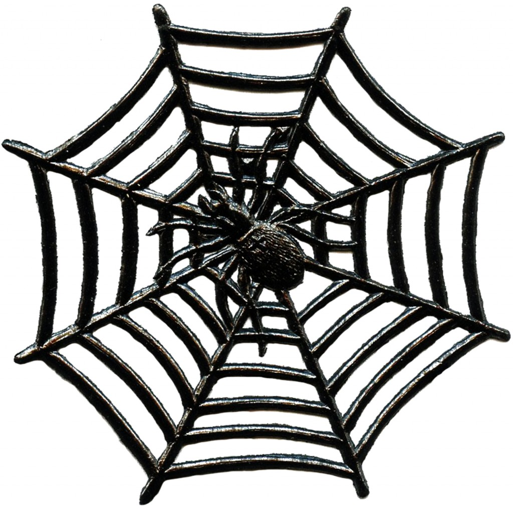 Vintage halloween spider image with web the graphics fairy for Graphics clipart