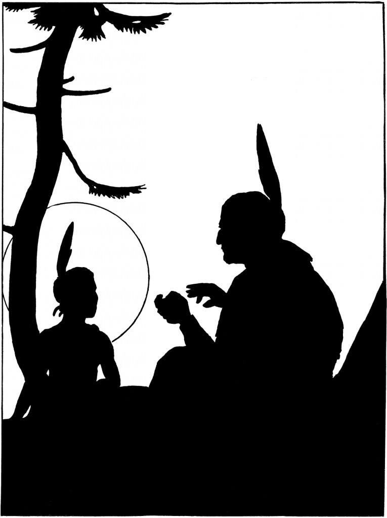 Vintage Native Americans Image - Silhouette! - The ...