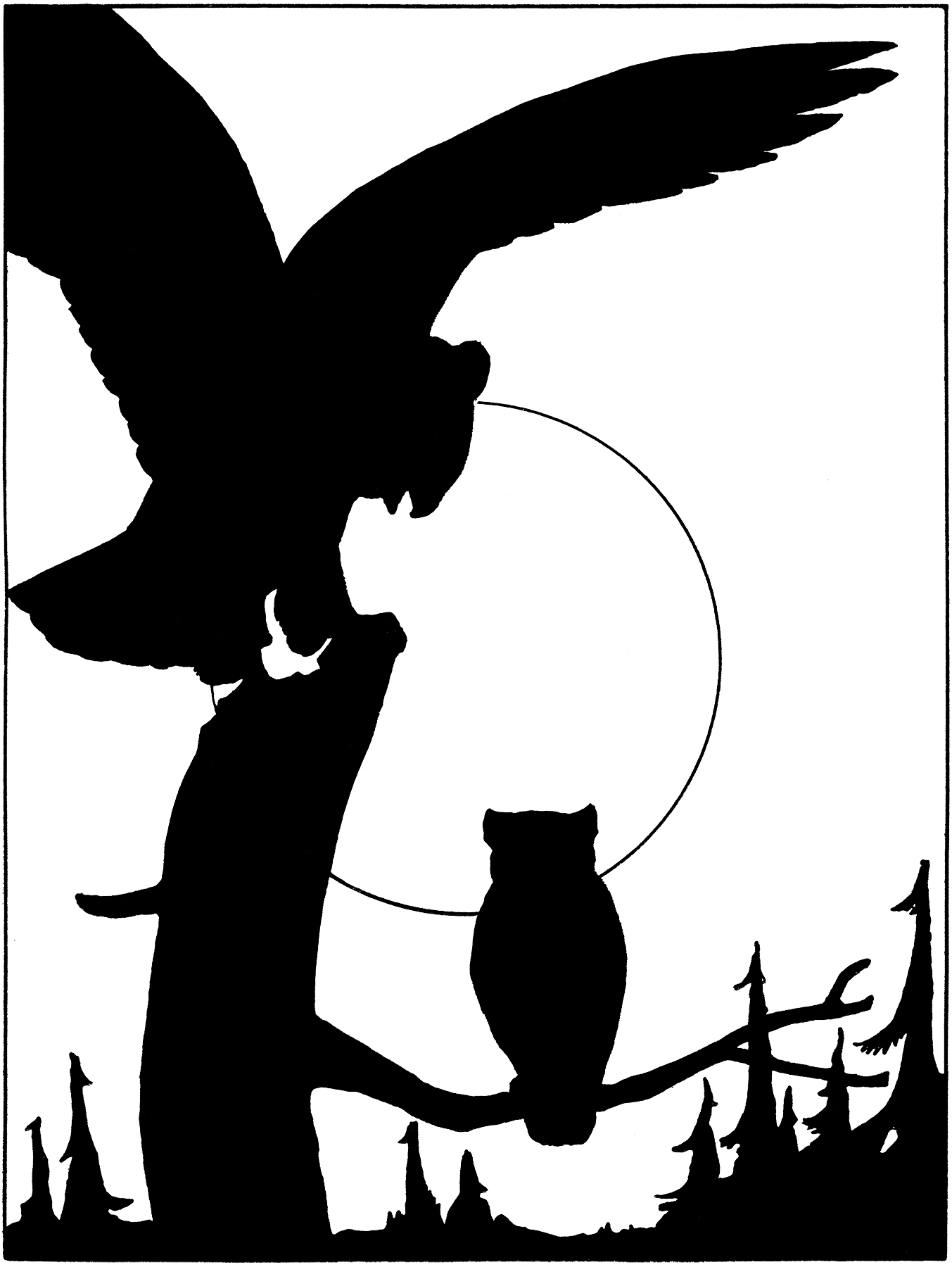 Vintage Owl Silhouette The Graphics Fairy