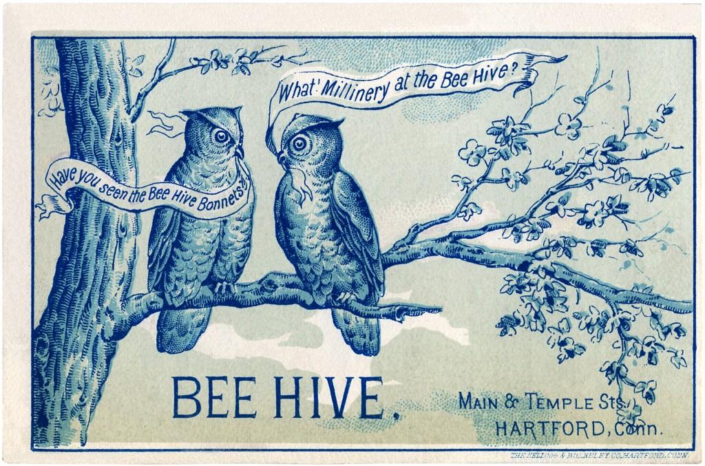 Vintage Owls Image Beehive ad