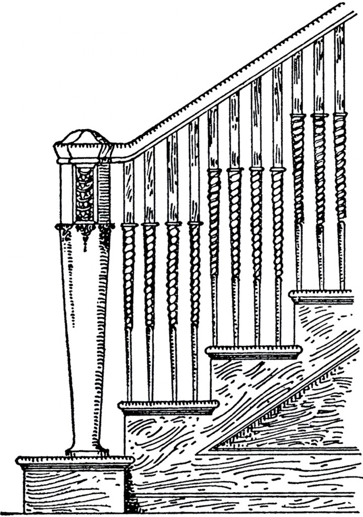 Vintage Staircase Image The Graphics Fairy