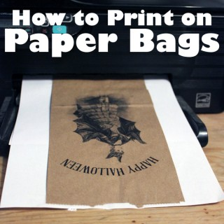 How to Print on Brown Paper Bags – Green Craft Technique!