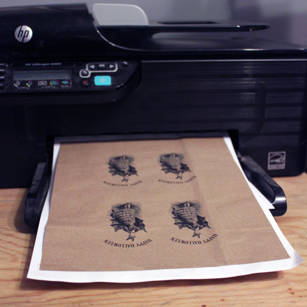 How To Print On Brown Paper Bags Green Craft Technique The