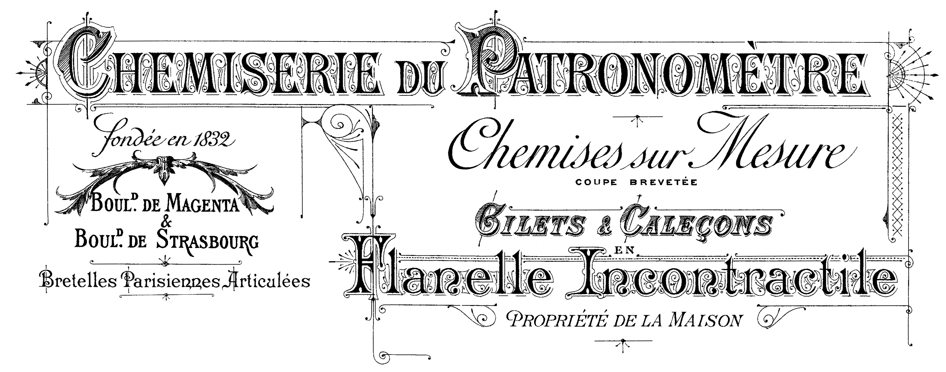 Clothing & Haberdashery French Transfer // The Graphics Fairy