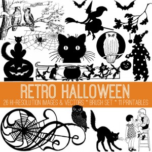 Retro Halloween Kit