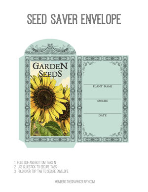seed_envelope_sunflower_graphicsfairy