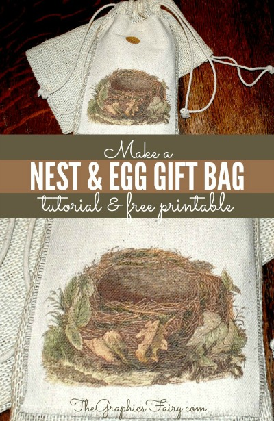 02 - Graphics Fairy - Nest and Egg Gift Bags