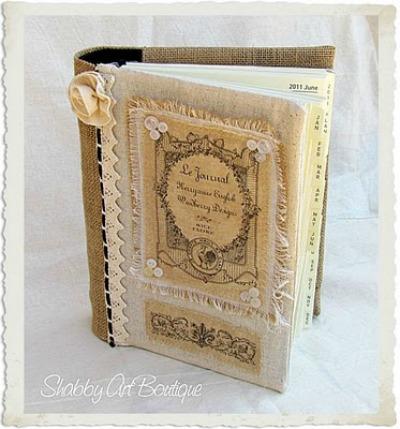 06 - Shabby Art Boutique - French Burlap Journal