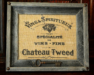 07 - Vintage Wicks and More - Burlap Wine Sign