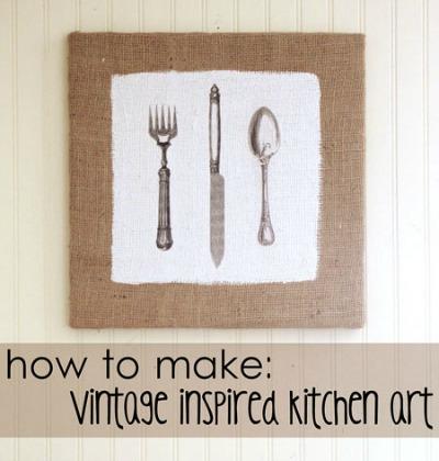 09 - Gina - Vintage Inspired Kitchen Art