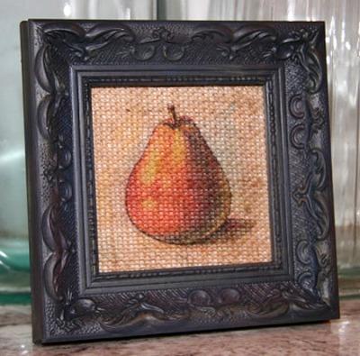 10 - The Burlap Board - Burlap Pear Art