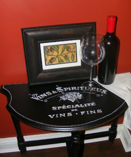 10 - Tracy Moreau - Hand Painted Wine Table