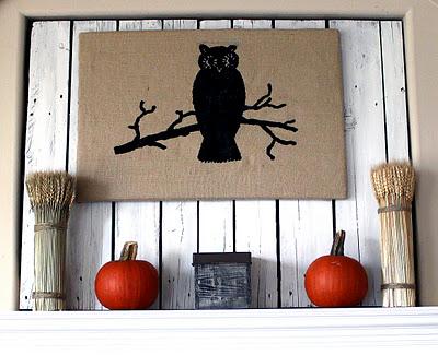 12 - Pine Place - Burlap Owl Wall Art