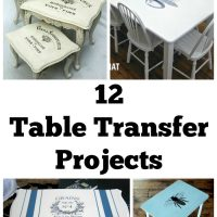 12 Fantastic Table Transfer Projects