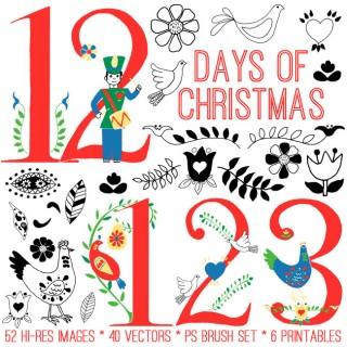 Huge 12 Days of Christmas Kit – TGF Premium!